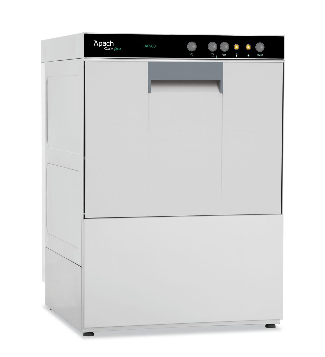 Front loading dishwashing machines