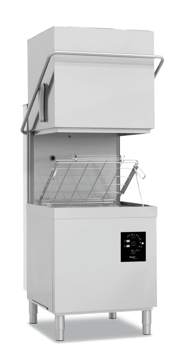 Hood type dishwashing machines